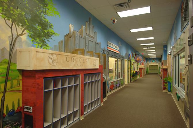 Chastain School Hallway