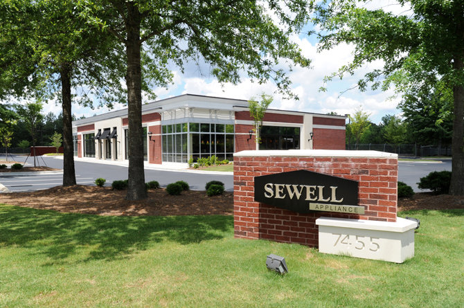Sewell Appliances Front Parking Lot